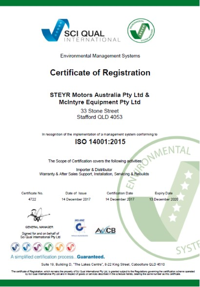 ISO 14001:2015 compliance